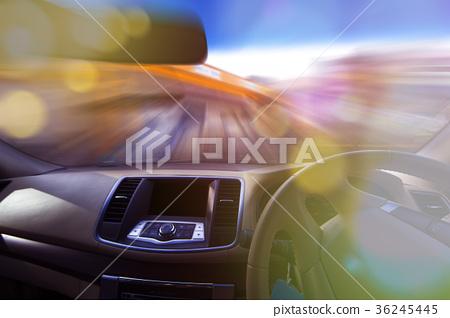 speed car transportation concept. 36245445