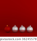 Red and white Christmas decoration balls 36245578