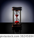 hourglass with red sand 36245694