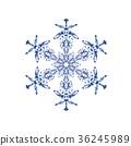 雪花01傳染媒介水彩例證 36245989