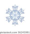 雪花02傳染媒介水彩例證 36245991