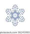 雪花03傳染媒介水彩例證 36245993