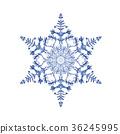 雪花04傳染媒介水彩例證 36245995