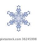 雪花05傳染媒介水彩例證 36245998