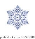 雪花06傳染媒介水彩例證 36246000