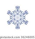 雪花08傳染媒介水彩例證 36246005
