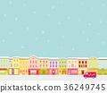 크리스마스, 거리, 눈 36249745