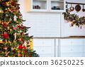 Christmas tree in Christmas living room. Beautiful 36250225