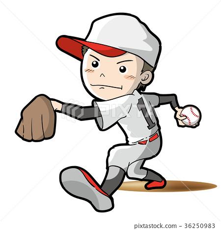 棒球 投手 男 36250983