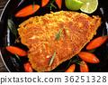 fried steak of white sea fish, close-up 36251328
