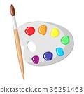 paintbrush, palette, color 36251463