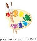 paintbrush, palette, color 36251511