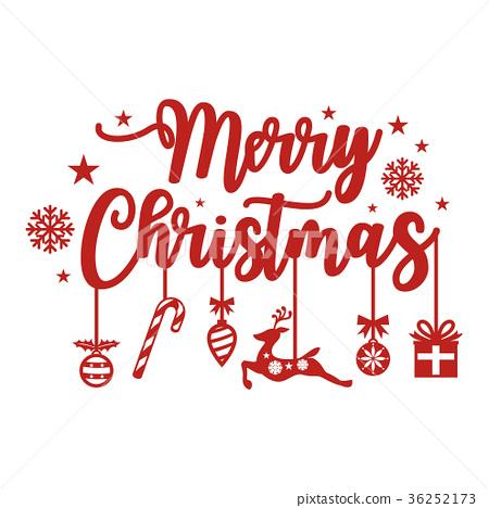 Christmas Lettering.Merry Christmas Lettering Design Stock Illustration