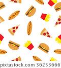 Fast Food Seamless Pattern 36253666