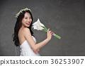 新娘 花冠 微笑 36253907