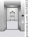 Modern elevator and interior decorative 36256653