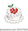 딸기 쇼트 케이크 36257826