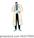 Doctor with white gown suit 36257909
