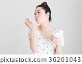 智能手机,女人(白色背景) 36261043