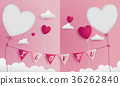 Valentine greeting card has 2 die-cuts 36262840