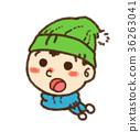 เด็กผู้ชาย,ฤดูหนาว,หมวกไหมพรม 36263041