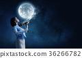Pretty female violinist 36266782