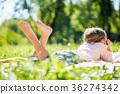 Kid in park 36274342