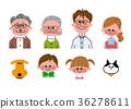 家庭父母和孩子 36278611