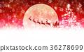 聖誕節雪冬天背景 36278699