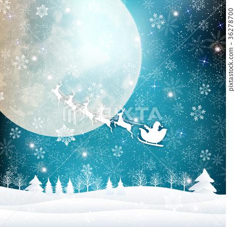 聖誕節雪冬天背景 36278700