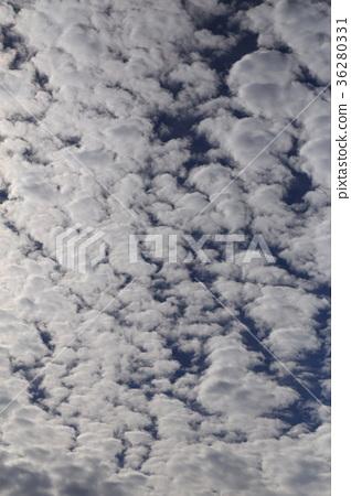 自然天氣綿羊雲,高積雲像一群羊。據說天氣是爆發的前兆 36280331