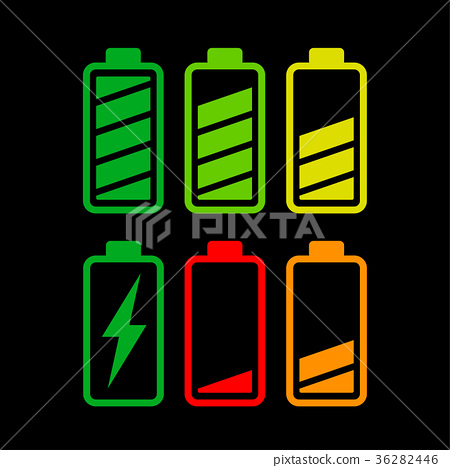 battery icons on white background 36282446