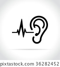ear icon on white background 36282452