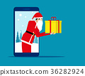 Santa Claus and technology. Concept holiday 36282924