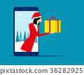 Santa Claus and technology. Concept holiday 36282925