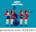 The Band. Santa team relax. Concept holiday  36282941
