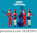 The Band. Santa team relax. Concept holiday  36282945