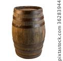 Wood barrel isolated on white background 36283944