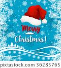 christmas hat greeting 36285765