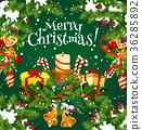christmas, greeting, vector 36285892