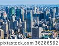 도쿄 미나토 구 주변의 타워 아파트와 오피스 빌딩 36286592