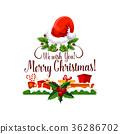 christmas greeting vector 36286702