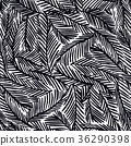Seamless pattern with fir tree branches 36290398