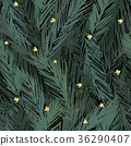 Seamless pattern with fir tree branches 36290407