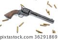 revolver, gun, 3D 36291869