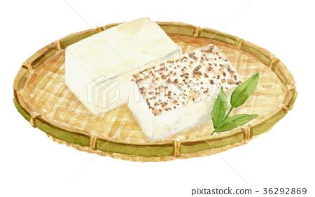 tofu, aquarelle, water color 36292869