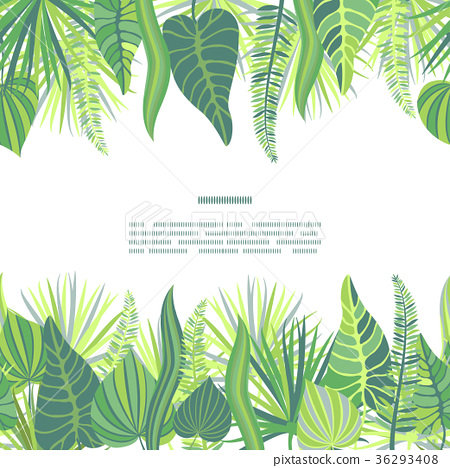 Tropical Leaves Vector Seamless Border Stock Illustration 36293408 Pixta Download premium vector of tropical botanical leaves background vector by kappy kappy about 599238, greenery border, leaf border, cream and decorate. https www pixtastock com illustration 36293408