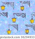 Street Lanterns, Seamless Pattern 36294933