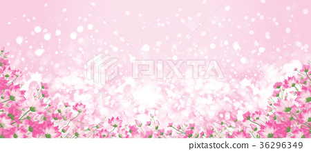 Vector pink floral bokeh background. 36296349