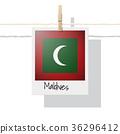 Photo of Maldives flag 36296412